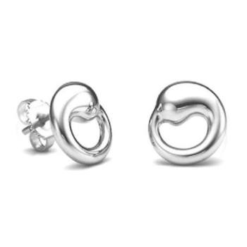 Cara  sterling silver and certified Swarovski stone studded Silver Abstract Me earrings for Women