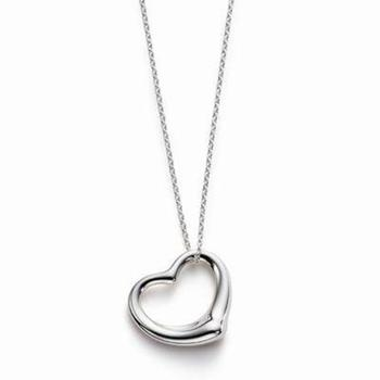 Cara sterling silver and  certified Swarovski stone Simple Heart pendant