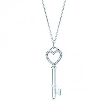 Cara sterling silver and  certified Swarovski stone Key to my heart pendant