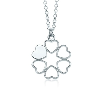 Cara sterling silver and  certified Swarovski stone Hearts pendant