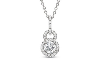 Cara sterling silver and  certified Swarovski stone Studded Lock pendant