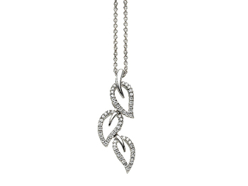 Cara sterling silver and  certified Swarovski stone Leaf of my life pendant for Women