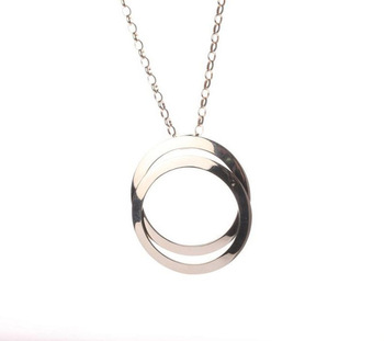 Cara sterling silver and  certified Swarovski stone Silver Rings of Love Pendant for Women