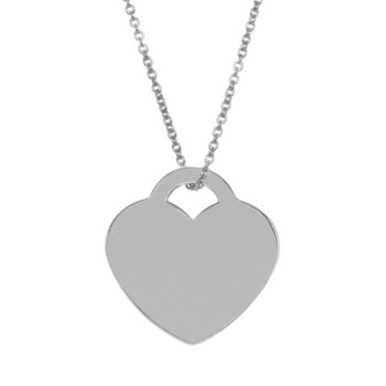 Cara sterling silver and  certified Swarovski stone Silver heart pendant for Women