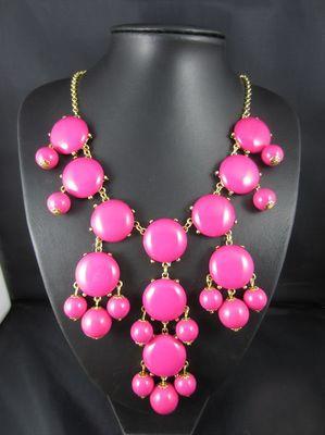Pink Bubble Bib Necklace