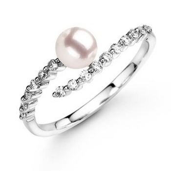 Cara Touch of Love pure silver and Swarovski stone ring for Women