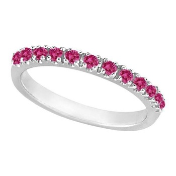 Cara sterling silver and  certified Swarovski stone Pink and Silver Ring