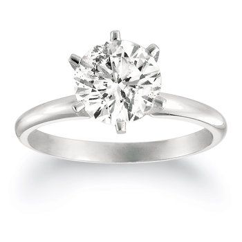 Cara Simple Solitaire Ring in Pure Silver and Swarovski stone for Women
