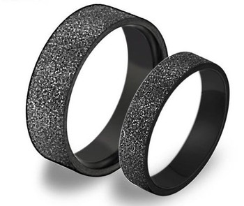 Cara sterling silver and  certified Swarovski stone Black and Unique like us Couple Bands
