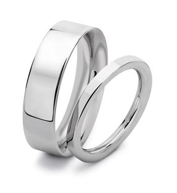 Cara sterling silver and  certified Swarovski stone We are simple Pure Silver Couple Bands