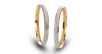 Cara sterling silver and  certified Swarovski stone Simplicity Couple Bands
