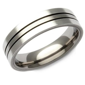 Cara sterling silver and  certified Swarovski stone Simple Silver Ring for Him