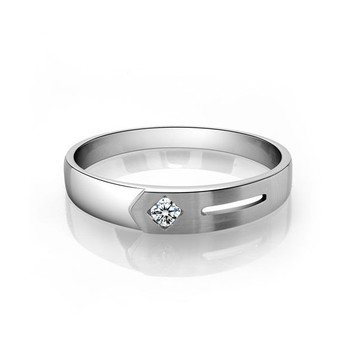 Cara sterling silver and  certified Swarovski stone Stud and Cut Ring for Him