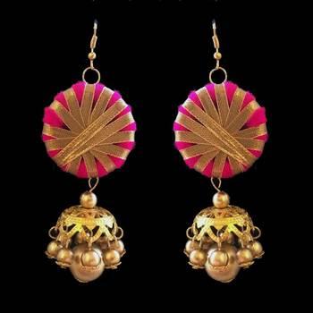 Pink Gota Jewellery Jhumka