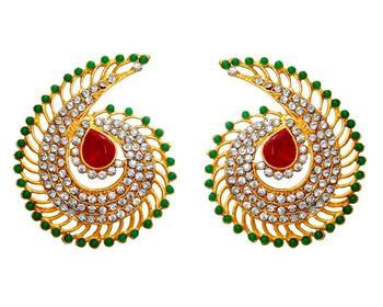 Fashion New Fabulious Ruby Green Stud Earrings