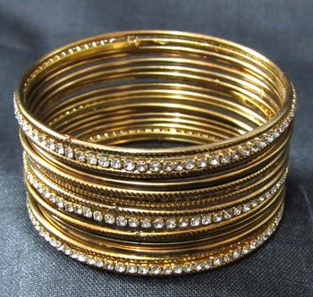 Antic copper colour 18 bangles set