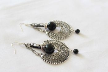 Black Chand Earrings