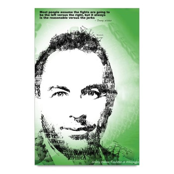 Motivational Quote By Jimmy Wales Wikipedia Poster