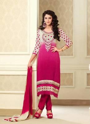 Magnificient Pink Embroidery Salwar Kameez