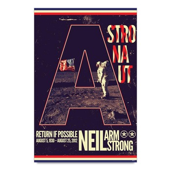 Neil Armstrong Tribute Astronaut Poster