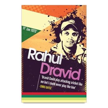 Rahul Dravid Accolade Poster