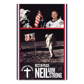 Neil Armstrong On Moon Astronaut Poster
