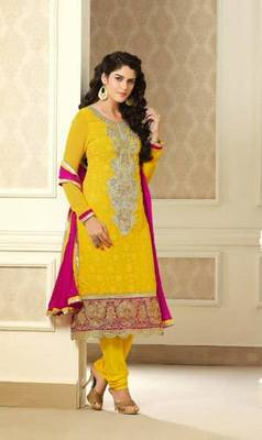 Fascinating Orange Embroidery Salwar Kameez