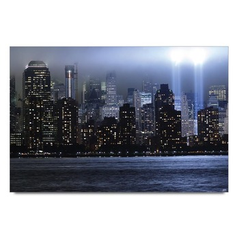 Future City View At Night Poster