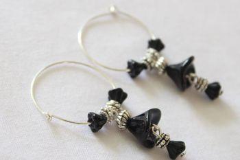 Black Czech Earrings
