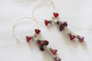 Red Czech earrings