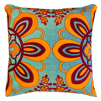 Dazzling flower motif cushion cover