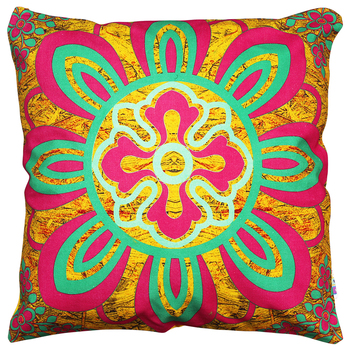 Delicate flower motif cushion cover