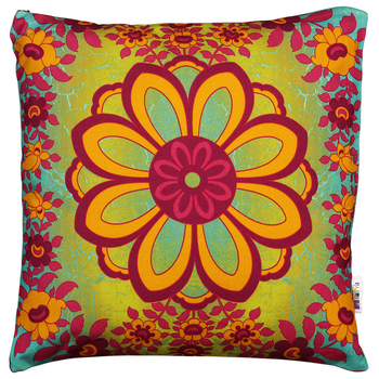 Spectacular flower motif cushion cover