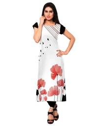 Buy multicolor printed crepe long-kurtis long-kurti online