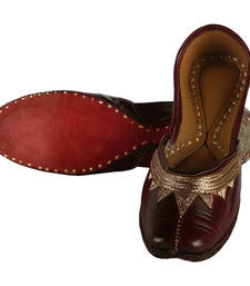 Buy Brown leather footwear footwear online
