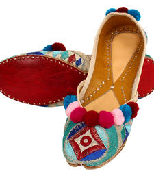 Buy Multicolor leather footwear footwear online