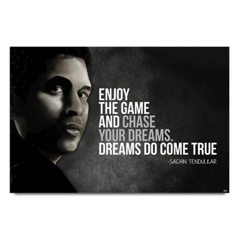 Sachin Tendulkar Dream Quote Poster