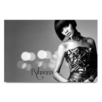 Rihanna Black & White Poster