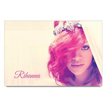Rihanna In Red Poster