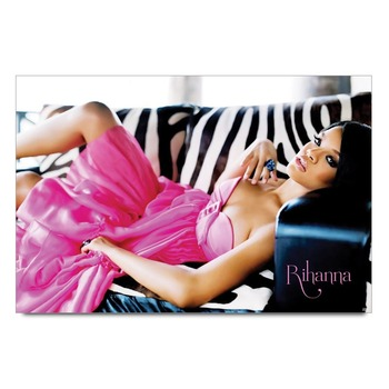 Rihanna In Pink Poster