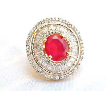 Ruby Diamond Cocktail Ring