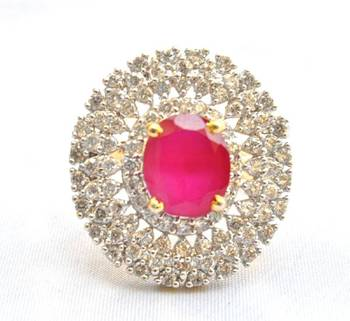 Oval Ruby Cocktail Ring