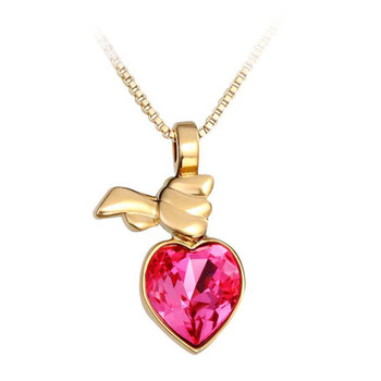 Dealtz Fashion 18k Gold Plated Heart Necklace