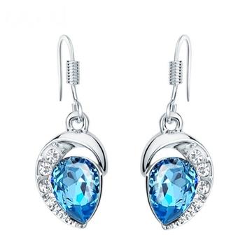 Dealtz Fashion Aqua Blue Crystal Earrings