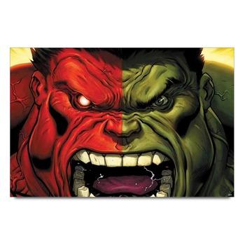 Hulk Red & Green Poster