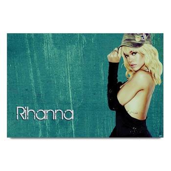 Rihanna In Black Poster