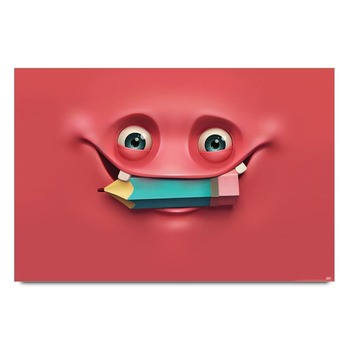 Smiley Pencil Poster