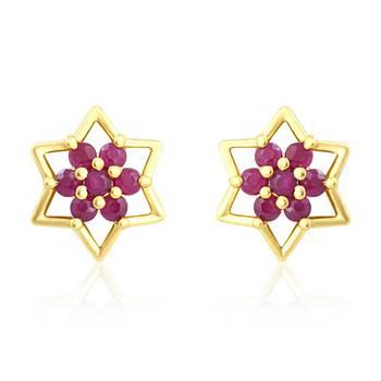 Mahi Red Stars Earrings