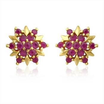 Mahi Red Burst Earrings
