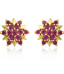 Buy Mahi Red Burst Earrings stud online